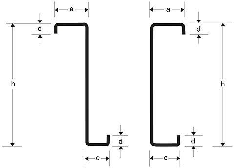 Moderne Stålåse - C og Z Stålåse i flere forskellige mål og længder MC34