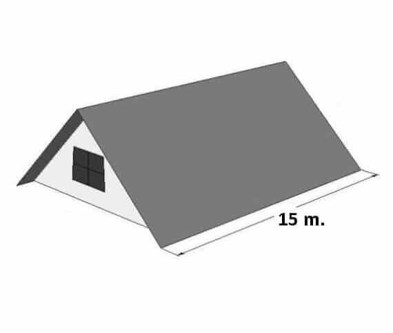Tagrende pakke til Saddeltag 30 meter. 125/87 (2 nedløb)
